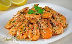 Romanian Food, Romanian Recipes, Asian Recipes, Ethnic Recipes, Fish And Seafood, Shrimp Recipes, Japchae, Spaghetti, Food And Drink