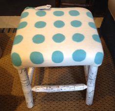 Wet felted fabric made by Leslie Cervenka, Bluebird Woolen Arts. Upholstered by Lakeside Living Design, LLC