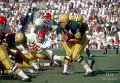 super+bowl+1 | Bay Packers running back Jim Taylor (31) in action during Super Bowl ...