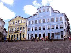 Town square in historical center, Salvador, Bahia, Brazil