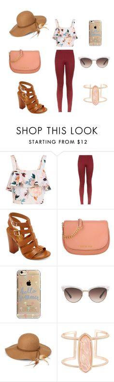 """Ready for summer days☀️"" by oliviaonfleek on Polyvore featuring New Look, Bamboo, Michael Kors, Agent 18, Gucci, Steve Madden and Kendra Scott"