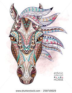 geometric horse tattoo - Google zoeken
