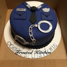 Police academy graduate cake