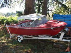 vintage boat #woodenboat