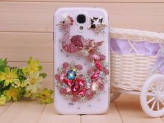 Phone case cover for Apple iphone 4/4s iphone 5. iphone 3, samsung galaxy s4 i9500, galaxy s3 i9300Charms Rhinestone Luxury Peacock