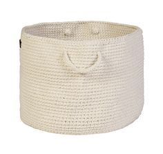 Cream hand crochet storage basket , $70.00 by La De Dah Kids100% cotton basket large carry handles. Height : 29cm Base: 34cm