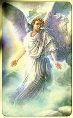 God says:  behold, I send an Angel  in front of you  to guard  and to bring you to the place  I have mixed ..