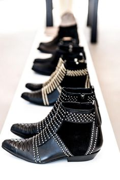 Shoe Crush: Anine Bing Studded Boots #shoes #style #fashion