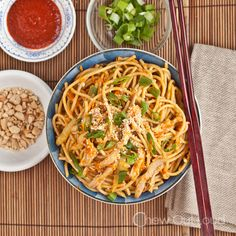 Peanut Sesame Noodles with Sriracha - Chew Out Loud