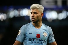 MANCHESTER, ENGLAND - NOVEMBER Sergio Aguero of Manchester City looks on during the Premier League match between Manchester City and Manchester United at Etihad Stadium on November 2018 in Manchester, United Kingdom. (Photo by Mike Hewitt/Getty Images) Manchester City, Manchester United, Manchester England, Sergio Aguero, Kun Aguero, Watford, Football Boys, Premier League Matches, Gareth Bale