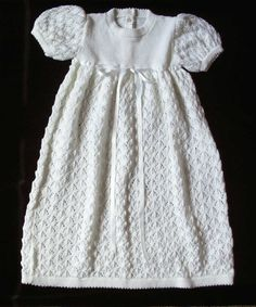 Knitted Christening Gown Patterns | TERRI'S KIDS: Christening Gowns and Knits