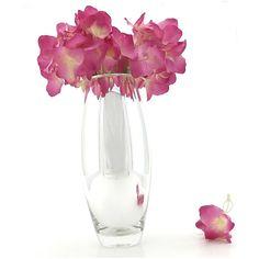Vaso de vidro espelhado abaulado médio