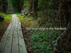 the first step