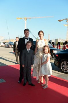 The Crown Prince Couple, Christian and Isabella on their way for the big birthday-bash for the Prince Consort ; June 1, 2014