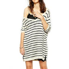$26.00 | Deep V loose striped sweaters CS1104CH