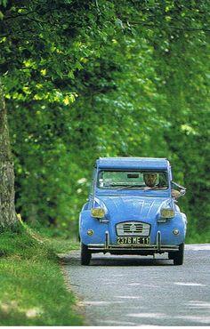 """2 CV: """"La Deuche"""" - Read more about it here:  http://frenchgirlinseattle.blogspot.com/2011/09/la-deux-chevaux-2-cv-french-legend.html"""