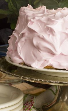 ♕ pink angel food cake