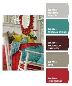 Chip It!  A Sherwin-Williams tool of taking colors from a picture and creating paint colors to go with it!!