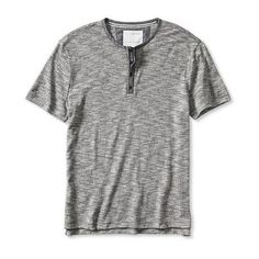 Banana Republic Mens Heritage Textured Henley ($45) ❤ liked on Polyvore featuring men's fashion, men's clothing, men's shirts, men's casual shirts, black, mens crew neck t shirts, banana republic mens shirts, mens short sleeve button down shirts, mens short sleeve henley shirts and mens henley shirts