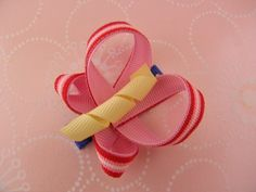 Popcorn Butterfly Hair Clip - so cute in my daughter's blonde streaked hair!