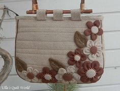 Ulla's Quilt World: Patchwork bag - flowers