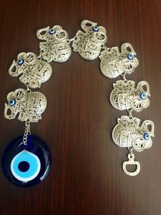 Evil Eye Wall Hanging-Evil Eye-Glass Evil by CreativeShopIdeas Turkish Eye, Evil Eye Charm, Natural Life, Blue Eyes, Crochet Earrings, Charmed, Fantasy, Trending Outfits, Unique Jewelry