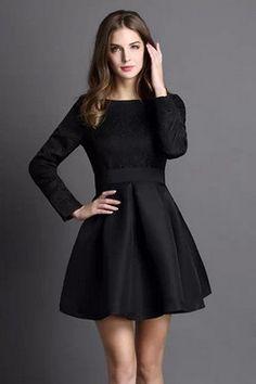 Картинки по запросу платье черное с рукавами короткое