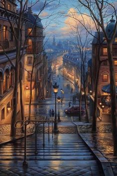 Montmartre dream ~ Paris, France Artist: Awesome Founders: - Best Places to Visit X Beautiful World, Beautiful Places, Wonderful Places, Wonderful Picture, Tour Eiffel, Belle Photo, Scenery, Around The Worlds, Instagram
