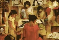 """Postcrossing - """"Prayer Before Meal"""" - painting by Vicente Manansala. Card sent by Postcrosser in the Philippines. This is the first card that I have ever received from that country! Arte Filipino, Prayers Before Meals, Persuasive Essay Topics, Philippine Art, True Art, Cubism, Cubist Art, Vintage Artwork, End Of The World"""