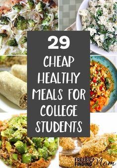 Tired of eating cafeteria food? These 29 Cheap Healthy Meals For College Students are not only easy to make and delicious but they are packed with nutrients that busy college students need. Here youll find vegetarian recipes chicken recipes seafood re Cheap Family Meals, Cheap Easy Meals, Cheap Healthy Dinners, Healthy Cheap Recipes, Cheap Dinners, Healthy Student Recipes, Cheap Vegetarian Meals, Cheap And Easy Recipes, Healthy Meals With Chicken