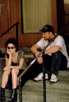 Helena Bonham Carter and David Fincher on the set of Fight Club