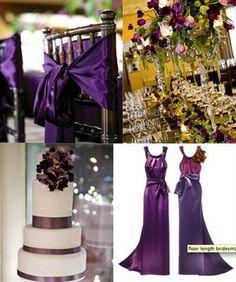 Charming Weddings: Deep, elegant purple