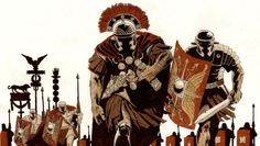 Short animation demonstrates the superb organization of the Roman Army, a tactical scope unmatched by other ancient armies. Rome History, Ancient History, Ancient Rome, Ancient Greece, Military Art, Military History, Imperial Legion, Samurai, Roman Warriors
