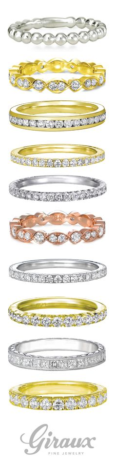 Ladies Diamond Wedding Bands from Giraux Fine Jewelry come in so many styles and metals it's impossible not to find the perfect one for you!