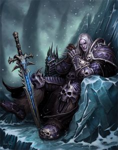 Lich King concept art...Was a hard mob I remember #warcraft