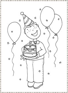 Free Dearie Dolls Digi Stamps: May 2014 Colouring Pics, Free Coloring Pages, Boy Birthday, Birthday Stuff, Textiles, Digi Stamps, Kids Cards, Paper Piecing, Scrapbook Cards