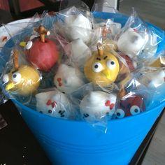 Angry Birds / Hello Kitty cake pops for Tiffany