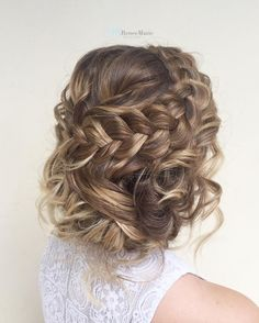 Save this for braided wedding updo hairstyle inspiration.