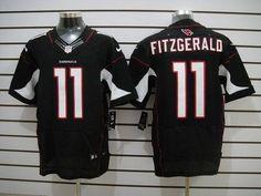 NIKE CARDINALS #11 LARRY FITZGERALD BLACK ALTERNATE MEN'S STITCHED NFL ELITE JERSEY