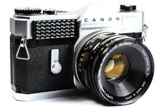 Canon Canonflex FM 35mm SLR Camera with Canomatic R 50mm Lens #Canon #Camera #Vintage #Photography #Filmphotography