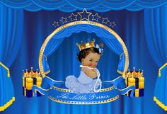 Prince Baby Backdrop Little Prince Blue Backdrops Baby Shower Backdrop Birthday Backdrop Birthday Backdrop, Birthday Background, Background For Photography, Photography Props, Baby Shower Backdrop, Happy Birthday, Birthday Parties, Gold Crown, Backdrops For Parties
