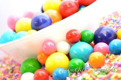 Gumballs and Sprinkles Photograph, colorful, fun, gum ball, kids, unique, food, still life photography, bubblegum, candy, sugar, colors, art