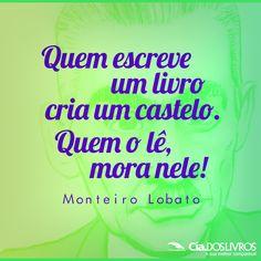 E com o Monteiro Lobato começamos nossa semana. :D   Tenha um #BomDia em nossa companhia!