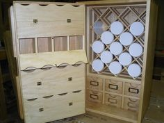 Tea Storage Cabinet made to order by keminerwoodworking on Etsy A Shelf, Shelves, Scrapbook Organization, Organization Ideas, Tea Storage, Cabinet Fronts, Small Cabinet, Tea Box, Cabinet Making