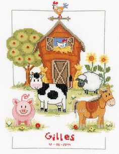 Buy At The Farm Cross Stitch Kit Online at www.sewandso.co.uk