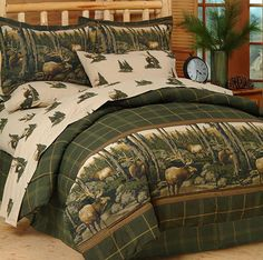 Rocky Mountain Elk Complete Bedding Set by Blue Ridge Trading - [Twin, Full, Queen, King] Full Comforter Sets, Bedding Sets, Bed Sets, King Comforter, Sheets Bedding, Queen Bedding, Urban Outfitters, Shabby, Rustic Bedding