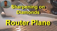 Sharpening a Router Plane Iron on Diamond Stones A decent sharpening system, such as diamond whetstones and a MDF strop, are integral to preparing a router p. Router Plane, Metalworking, Diamond Stone, Leather Working, Peacock, Stones, Woodworking, Iron, Rocks