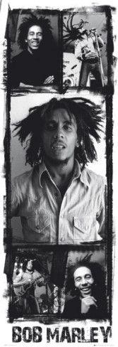Bob Marley - Photo Collage Deurposter