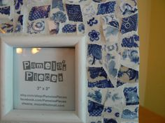 Blue Broken China  Mosaic Photo Frame Picture by PamelasPieces, $30.00
