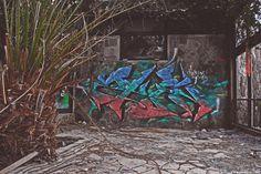 Berlin Blub (abandoned spa) #Palmtrees and #graffitis #Berlin